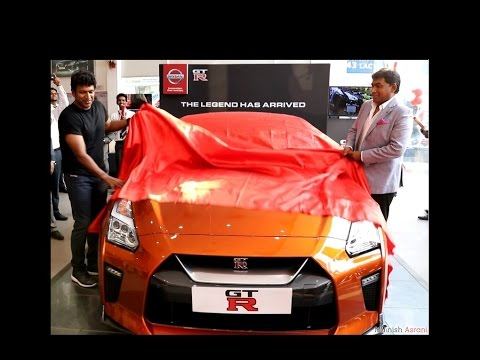 Power Star Puneeth Rajkumar unveils NISSAN GTR in Bangalore