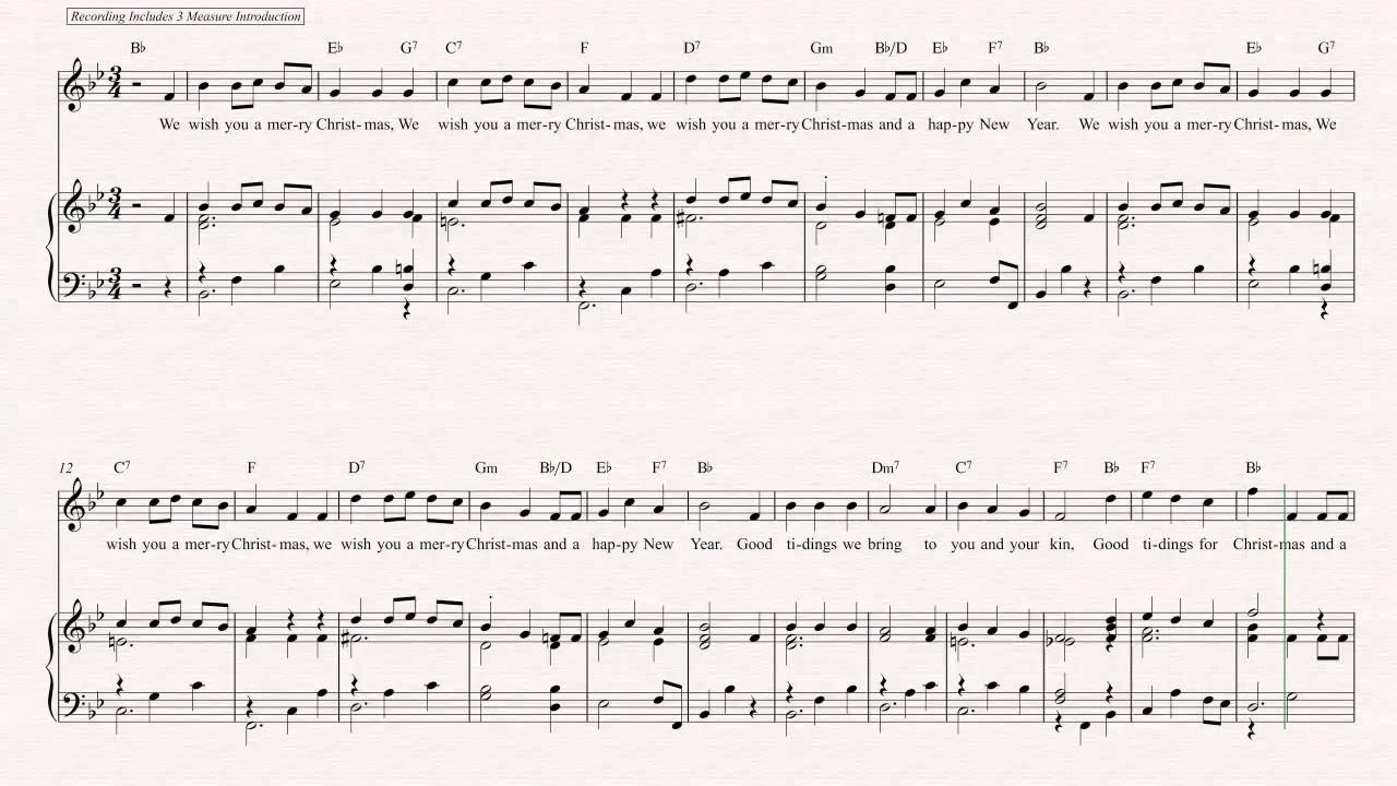 Oboe - We Wish You a Merry Christmas - Christmas Sheet Music, Chords ...
