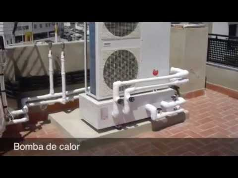 Suelo radiante refrescante y sistema solar youtube for Instalacion de bomba de calor para piscinas