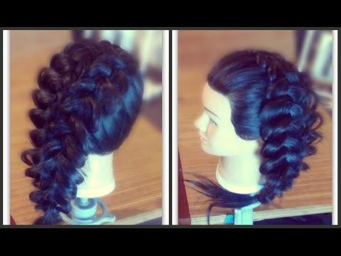 Ажурное плетение на длинные волосы.Свадебные,вечерние ...