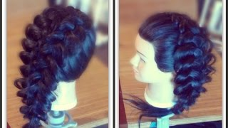 Ажурное плетение на длинные волосы.Свадебные,вечерние прически из кос/на основе плетений.Коса