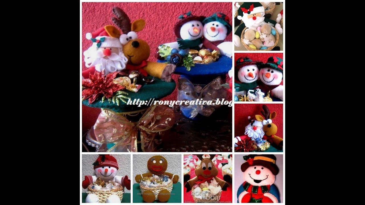 Navidad hermosas ideas de fieltro o pa o lenci diy youtube - Manualidades con fieltro para navidad ...