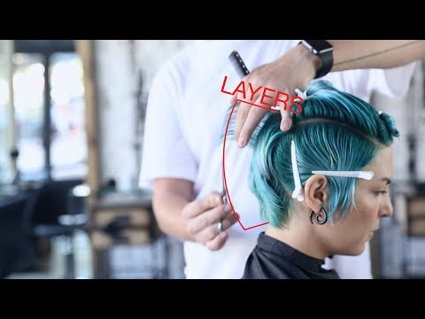 how to cut beautiful short women's haircut