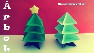 Origami - Papiroflexia. Árbol De Navidad. Christmas Tree.
