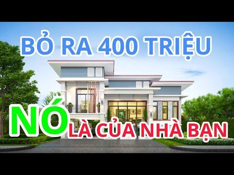 Nhadep – Mẫu Nhà Mái Bằng Hiện Đại Giá 400 triệu
