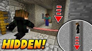 HIDDEN TRIPWIRE PISTON TRAP! - Minecraft SKYWARS TROLLING (FAKE DOOR!)