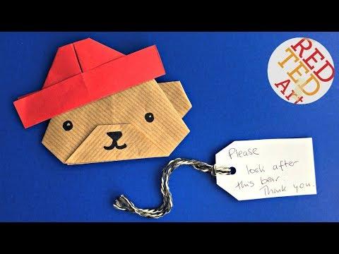 Easy Paper Paddington Bear DIY   No Glue   Origami Paddington DIY