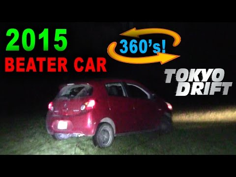 2015 Beater Mirage does 360's and Burnouts!