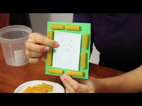 How To Glue Pasta Fun Simple Crafts Youtube