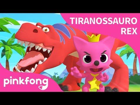 [Português] Dança Tiranossauro Rex | Canções de dinossauro | Pinkfong Canções para crianças