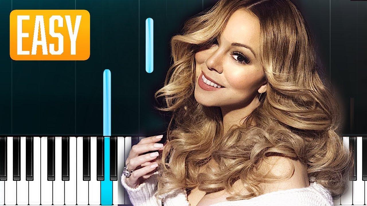 Mariah Carey We Belong Together 100 Easy Piano Tutorial Youtube