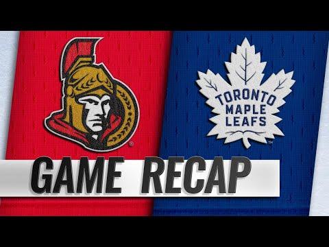 Maple Leafs top Senators for fourth straight home win