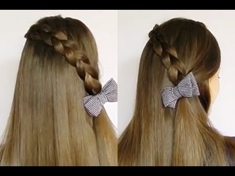 Peinado f cil paso a paso trenza invertida en cascada - Peinados faciles y rapidos paso a paso ...
