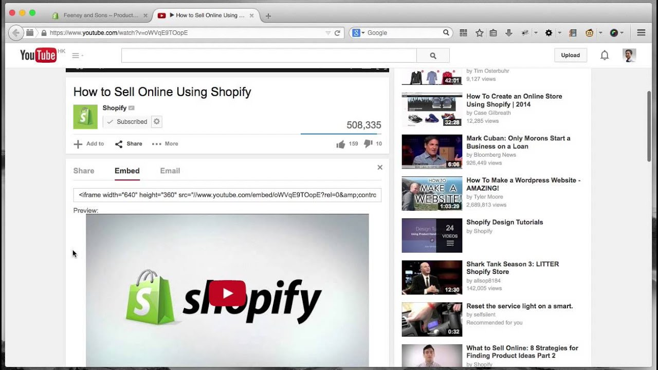 Shopify: How to embed video into product description