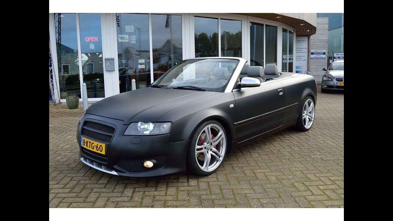 audi a4 cabrio youtube. Black Bedroom Furniture Sets. Home Design Ideas