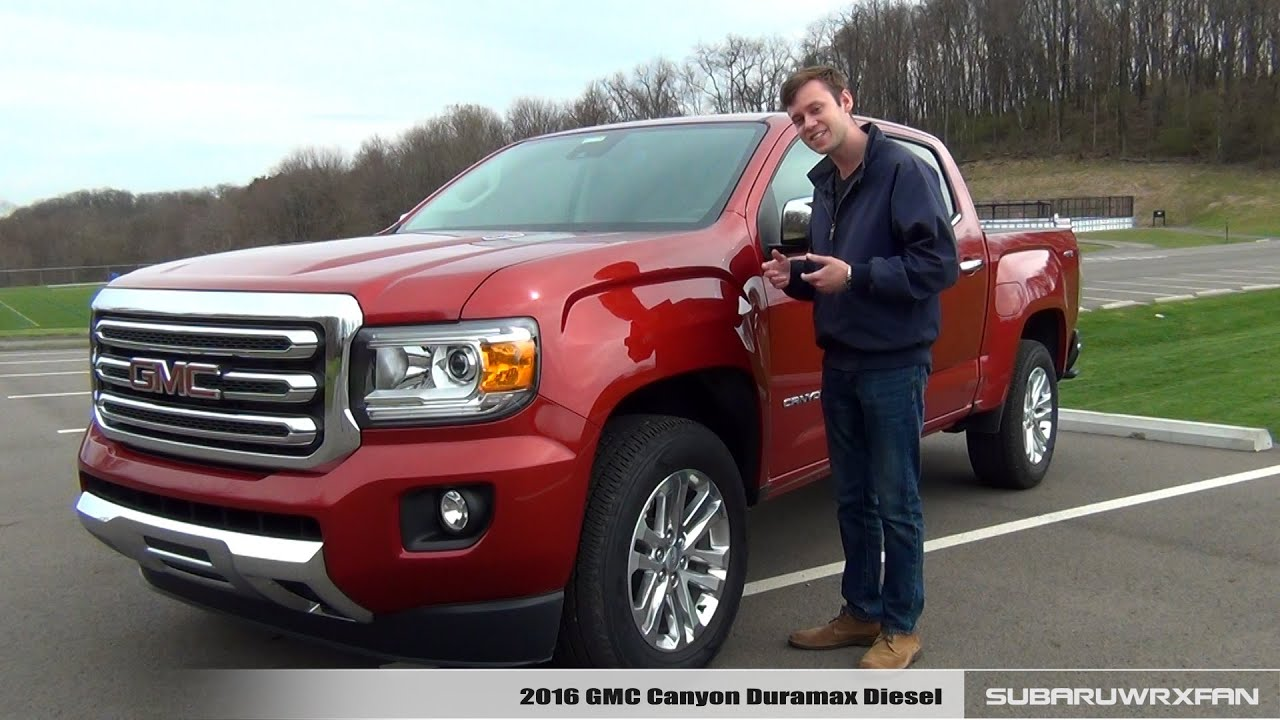 Review 2016 Gmc Canyon Duramax Diesel Youtube