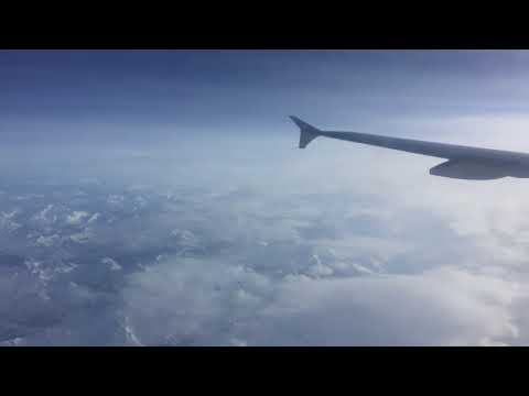 Air France: Crossing the Alps in winter time