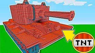 Minecraft Battle - NOOB vs PRO : EXPLOSION OF GIANT TNT TANK IN MINECRAFT ! (Animation)