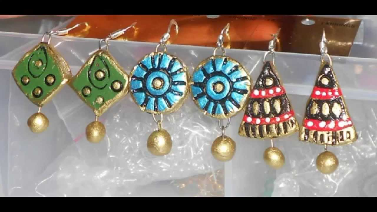 TERRACOTTA JEWELLERY : MATERIALS & TOOLS REQUIRED - YouTube