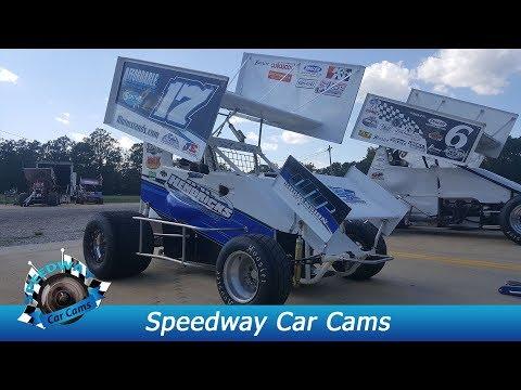#17 Alex Lyles - Mini Sprint - 8-18-17 Boyd's Speedway - In Car Camera