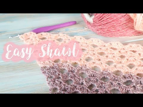 Easy Crochet Shawl / Lace Arcade Crochet Stitch