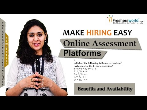 Online Assessment Platforms – Benefits and availability II HR Recruiting Tips