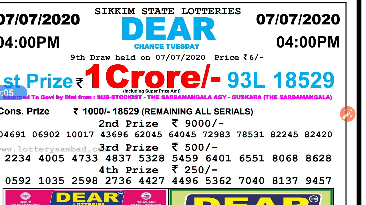 State Lotteries Results