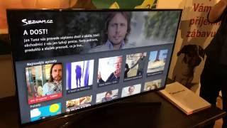 Seznam.cz a Stream.cz - ukázka funkčnosti přes HbbTV