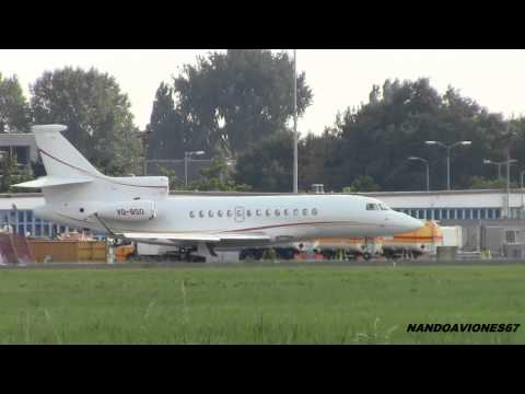 Private Jets  Landing And Take Off At Rotterdam Airport EHRD
