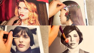 ASMR Applying Makeup to Magazines (Whispered) #2