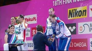 Еще одну золотую медаль завоевали российские синхронистки на Чемпионате мира по водным видам спорта. / Видео