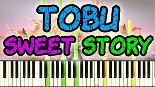 tobu sweet story piano cover edm synthesia covers