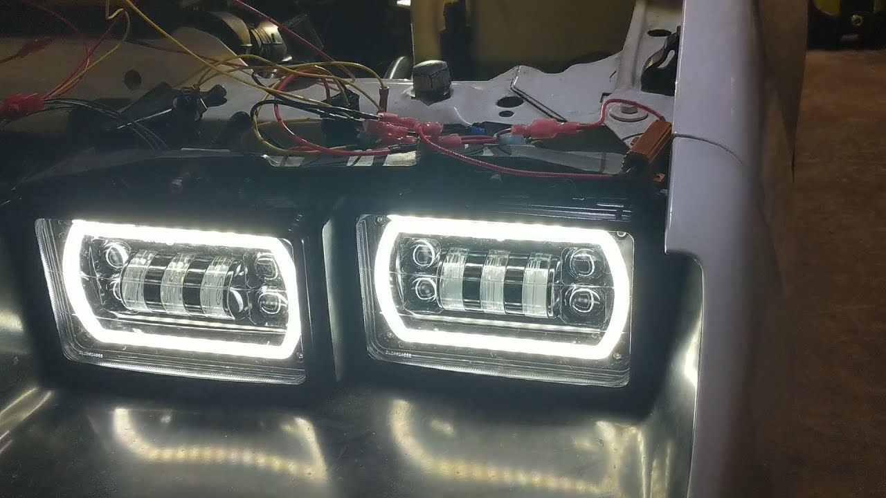 Wiring Led Headlights Into A 1991 Camaro Youtube