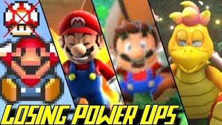 Evolution of Losing Power Ups in Mario Games (1985-2018)