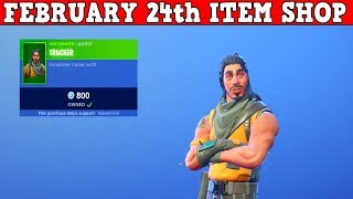 Fortnite Item Shop (FEBRUARY 24th) | RAREST SKIN IN FORTNITE IS BACK! Tracker Skin!