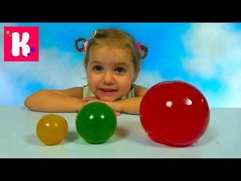 Катя и папа сделали Желейные прыгучие шары