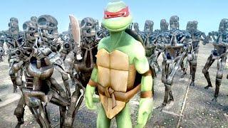Raphael vs TERMINATOR ARMY (Teenage Mutant Ninja Turtles) - EPIC BATTLE