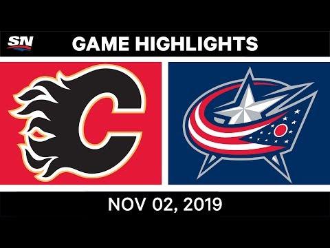 NHL Highlights | Flames Vs Blue Jackets – Nov. 2, 2019