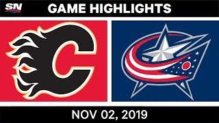 NHL Highlights   Flames vs Blue Jackets – Nov. 2, 2019