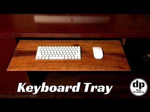 Keyboard Tray with Reclaimed Hardware | DIY | Easy Desk Upgrade