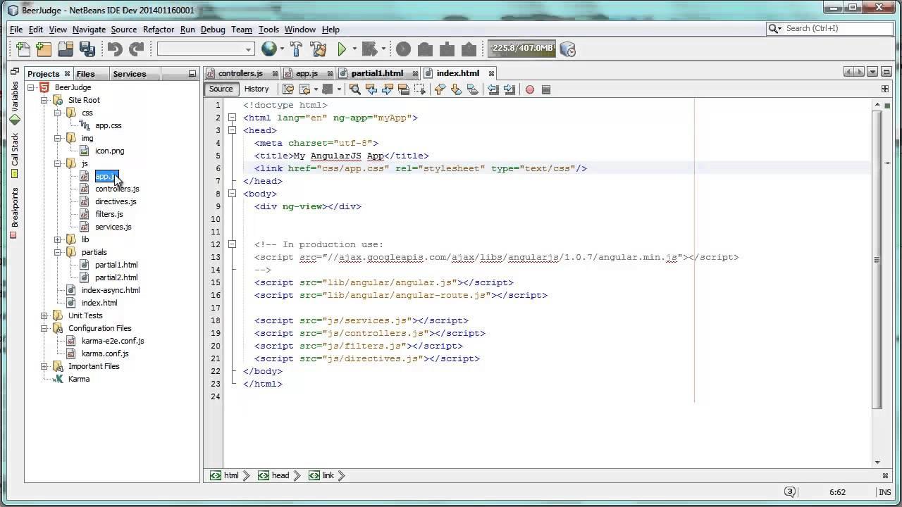 Integrated AngularJS Development   Oracle Geertjan's Blog