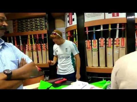Gray Nicols bat checking england players at The Pavilion chennai
