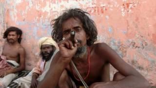 Aghori Baba smoking ganja