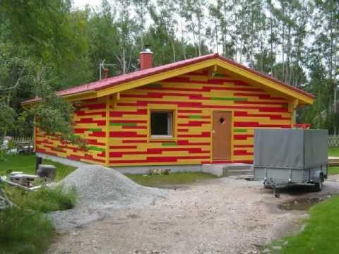 3 Bed Room Residential Log Home , Blockhaus Ab Werk