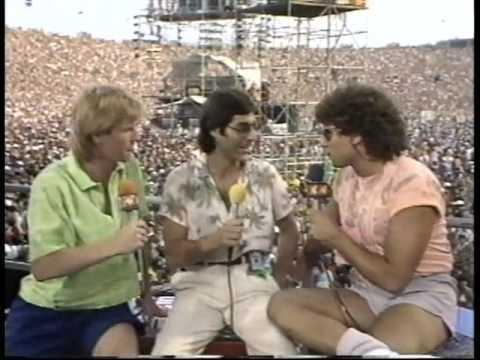 Max Weinberg - LiveAid Interview - 1985