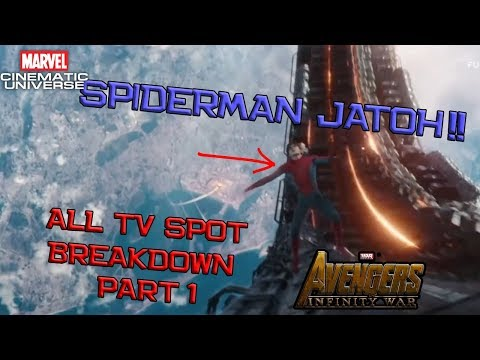 Spiderman Jatuh Dari Langit ! All TV Spot Avengers Infinity War Breakdown Part 1   Marvel Indonesia