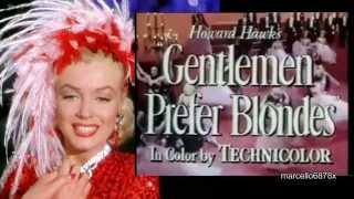 MARILYN MONROE La Leyenda - Los Caballeros las prefieren Rubias (con la Morena Jane Russell)