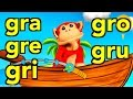 Download Sílabas gra gre gri gro gru - El Mono Sílabo - s Infantiles - Educación para Niños # MP3 song and Music Video