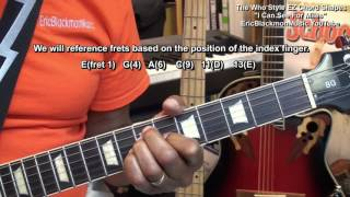 How To Play I CAN SEE FOR MILES The Who Style Electric Guitar Chords Lesson EricBlackmonMusicHD