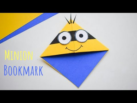 Cute Minion Corner Bookmark | DIY Corner Page Bookmarks | Fun Minion Craft Ideas for Kids